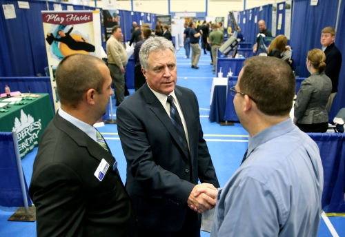 Chancellor Bob Meyer at UW-Stout Fall 2014 Career Conference