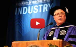 Bob Meyer, the seventh leader in the history of University of Wisconsin-Stout, was inaugurated at 2 p.m. Thursday, April 2, in the Great Hall of the Memorial Student Center.