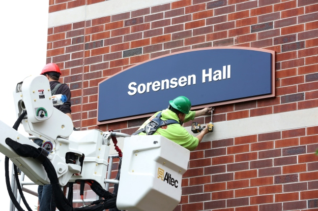 Sorensen Hall Signs Installed
